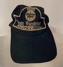 ORIGINAL TEAM WARSTEINER ARROWS FORMULA ONE RACING BASEBALL HAT CAP 1980's A2 A3