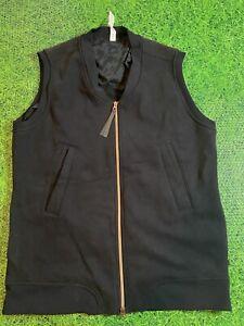 Lululemon Departure Vest Black Animal Print Rose Gold Zipper Size 10