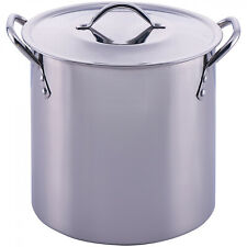 Stainless Steel Pot and Lid Stock Cooking Kitchen Soup Stew Sauce Stockpot Quart