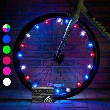 LUCI A LED RGB PER RUOTE BICI BICICLETTA ELETTRICA MTB CON BATTERIE INCLUSE