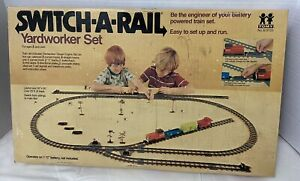 Vintage Tomy Switch-a-Rail Yardworker Train Set 1975 Tracks Not Complete