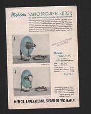SIEGEN, Prospekt 1930, Meteor-Apparatebau Panchro-Reflektor