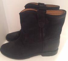 Isabel Marant 40/US 10 Black Suede CRISI Hidden Wedge Boots Booties #1802