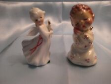 New ListingNapco Christmas Angel & a Kneeling Baby With Eyes Closed in Prayer