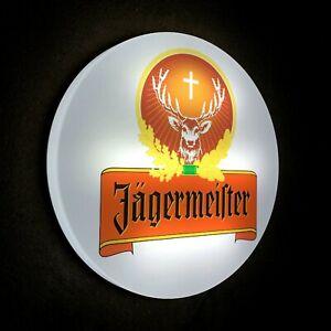 JAGERMEISTER Light up LED bar sign logo Pub Beer Lager ALE man cave JAGER BOMB