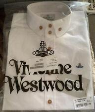 Mens Genuine White Cotton Vivienne Westwood Classic Long Sleeve Shirt Medium 50