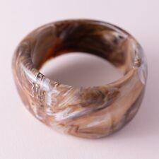 Brown Acrylic Swirl Chunky Fashion Bangle Bracelet
