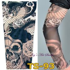 Stretchy Temporary Fake Tattoo Sleeve Printed Costume Punk Fancy Dress TS-93