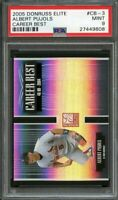 2005 donruss elite career best #cb-3 ALBERT PUJOLS st louis cardinals PSA 9