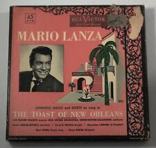 THE TOAST OF NEW ORLEANS MARIO LANZA RCA VICTOR  4 x 45 RPM Record Set