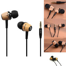 AWEI Q9 Wooden Super Bass Headphone Earphone Stereo Earbuds In-ear For Cellphone