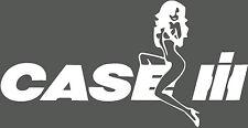 Case IH Puma Tractor Decal Funny Girl on Logo Sticker x 2