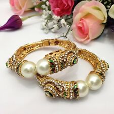 Indian Asian Size:2.4 Bridal Pakistani Jewellery Openable Polki Bangles