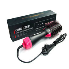 Hair dryer and curling iron hot air paddle shape brush negative ion generator