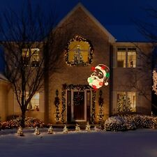 Santa claus outdoor christmas lights ebay new led lightshow christmas projection plus whirl a motion static santa 2 in 1 aloadofball Image collections