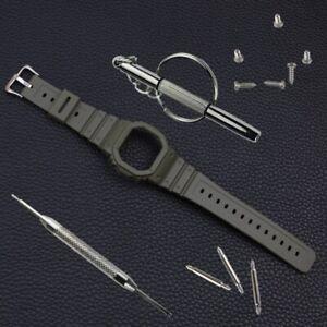 16mm Resin Watch Band Strap Fit For Casio G-SHOCK DW5600 GW5000 GW5035 GW5030