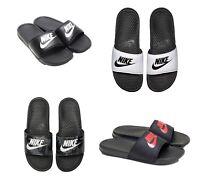 New Nike Benassi JDI Flip Flop / Sandal 343880 White Black 9 10 11 12 13 14