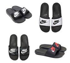a35fc7e64b57 New Nike Benassi JDI Flip Flop   Sandal 343880 White Black 9 10 11 12 13