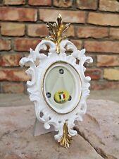 Cadre d'image ovale or blanc ancien barockrahmen16x10 CADRE PHOTO SHABBY C2
