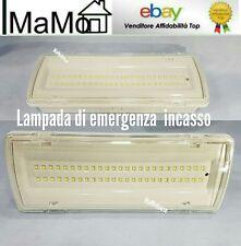 LAMPADA PLAFONIERA APPLIQUE LUCE EMERGENZA LED 4W 50 LED ESTERNO INTERNO IP65 mm