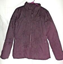 ANNE KLEIN Womens Coat Size MED Black Front Zip Polyester Down Filled 4 Pockets
