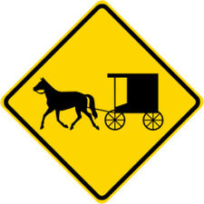 3M EGP Reflective HORSE DRAWN & VEHICLE BUGGY SYMBOL Road Street Sign 30 x 30