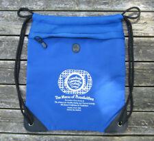 Tote Bag Knapsack Drawstring Beachbag Blue Heavy Nylon Zip Pouch Mesh Main Pouch