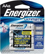 Energizer Ultimate Lithium AA Electronic Batteries Leak Proof (8 Count) L91SBP-8