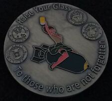 LIMITED EDITION Sexy Pin-Up Raise Your Glass POW MIA VFW Fund Challenge Coin