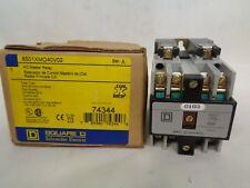 NEW SQUARE D /SCHNEIDER 8501XMO40V02 AC MASTER RELAY 110/120V COIL