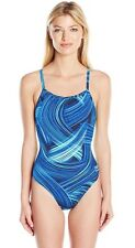 Speedo Womens 10 36 Competitive Turbo Stroke Fly Blue Bathing Suit