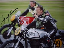 Jeremy McWilliams signed Goodwood Revival Walmsley Manx Norton A4 photo