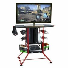 Storage Media Gamer Organizer Versatile Unit Living Room Rack Tv Stand Videos