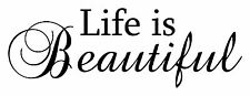 Life is Beautiful quote vinyl letters design lettering wall decor art decal New