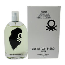 Nero von Benetton für Herren Edt Eau De Cologne Spray 98ml Probe Neu