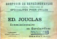 1912 FOURNITURE POUR CYCLE MOTO ACCESSOIRE FOURNITURE JOUCLAS LOT CALE PIED