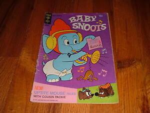 BABY SNOOTS #6 1971 Vintage Comic Book UPTITE MOUSE Elephant Elefink GOLD KEY