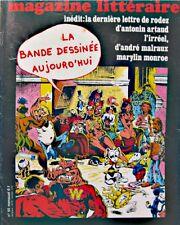 ++MAGAZINE LITTÉRAIRE N°95 derniere lettre de rodez/artaud/monroe BANDE DÉSSINÉE