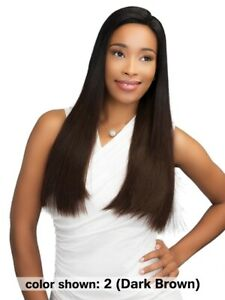 Janet Collection 100% Remy Human Hair Straight Long Wig Lace Front - VIP