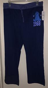 DISNEY'S Eeyore 1968 Juniors' Knit Sleep/Lounge Pant NAVY MULTI XL(15/17) NWT
