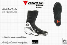 NEW DAINESE AXIAL PRO IN MOTOGP RACE BOOTS WHITE BLACK US 13 EU 47 - 305 mm