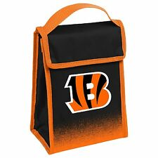 NEW Cincinnati Bengals Orange Black NFL Velcro Lunch Bag Gradiant Logo Forever C