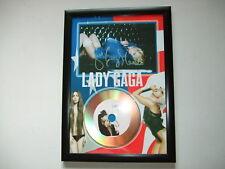 LADY GAGA  SIGNED  GOLD  DISC  Y