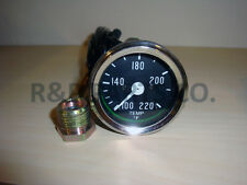 temperature gauge for willys mb jeep ford cj gpw / black dial chrome bezel