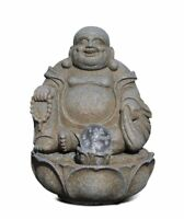 Happy Buda Pozo Asiático Fuente de Habitación Buda Altura, con Risa de Buda