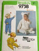 Simplicity Sewing Pattern 9738 Size K 1 2 3 Toddler Pants Top Jacket Uncut 1980