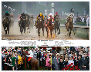 JUSTIFY KENTUCKY DERBY 2018 COMPOSITE PHOTO 10 X 8