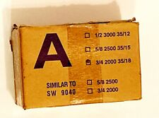 Copper Carton Closing Sealing Staples A 3/4 2000 35/18  Stick  Pnuematic