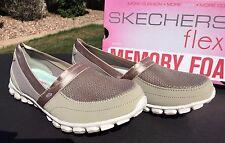 Skechers EASY FLEX TAKE IT EASY Shoes 22258 Taupe Womens 9 Memory Foam NIB