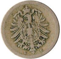 COIN / GERMAN EMPIRE / 5 PFENNIG, 1875   #WT3065